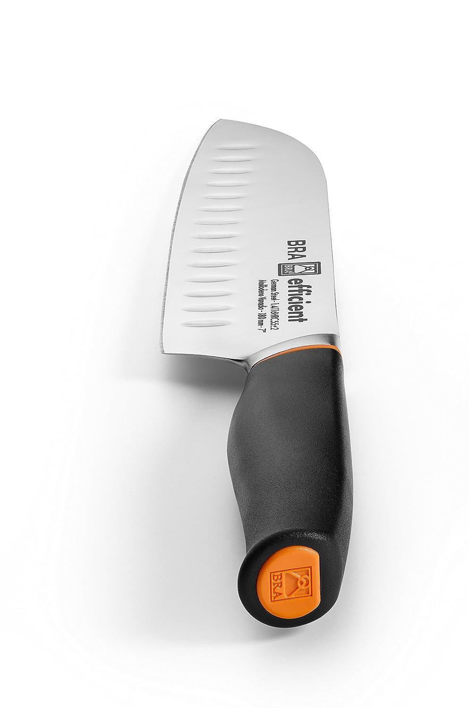 Bra Efficient Cuchillo Santoku, Acero Inoxidable, Gris, 3x5x34 cm