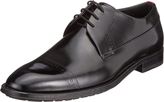 TALLA 42 EU. HUGO Allure_derb_boctbg, Zapatos de Cordones Derby Hombre