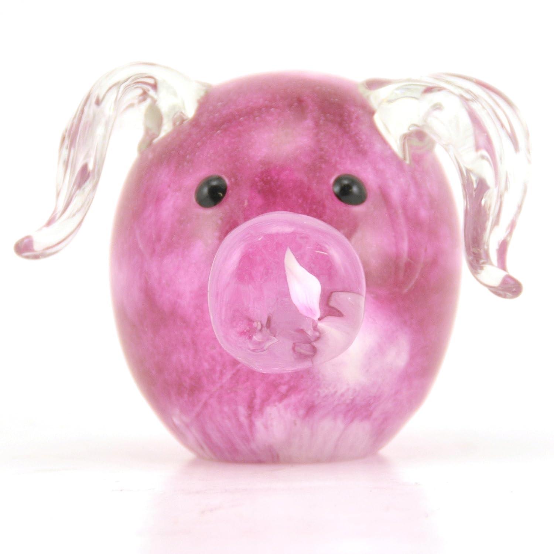 Farbeful Einzigartige Schwein Glas Glas Glas Briefbeschwerer, 4-Zoll-, Sammler Figur B00JKT5XP4 | Moderate Kosten  8a9658