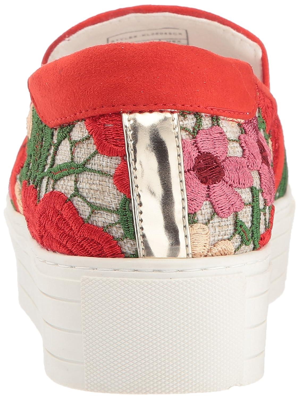 Kenneth Cole New York Women's Joanie Platform Slip 37.5 Technology Sneaker B0794ZL8PM 8 B(M) US|Red/Multi