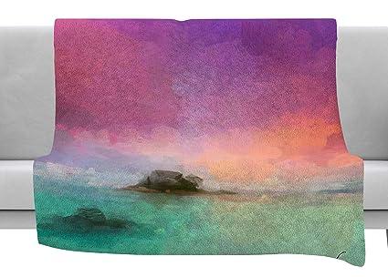 Amazon.com: KESS InHouse Oriana Cordero Tenerife Aqua Purple ...