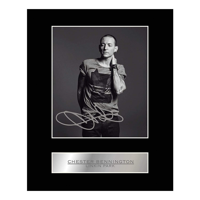 Iconic pics Photo dédicacée et encadrée de Chester Bennington du groupe Linkin Park
