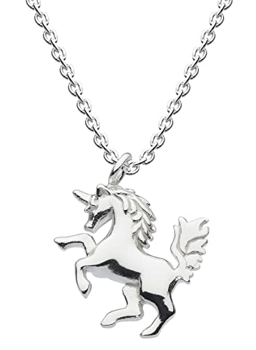 Dew Sterling Silver Mythical Unicorn Necklace 18