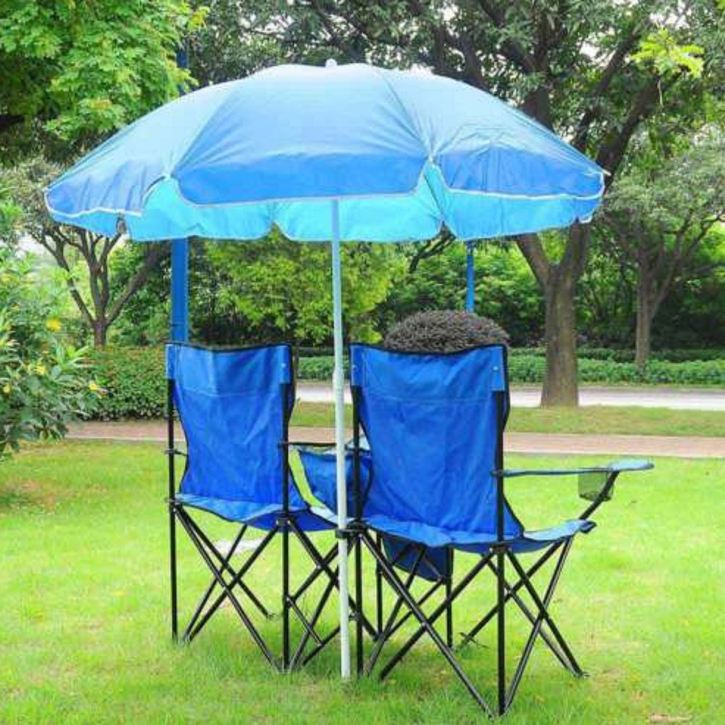 Amazon Folding Chair Picnic Portable Double Chair With