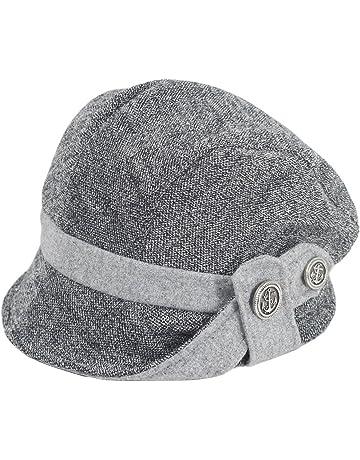 a9069fa7fc7 Dahlia Women s Chic Flower Newsboy Cap Hat Wool Blend - Dual Layer