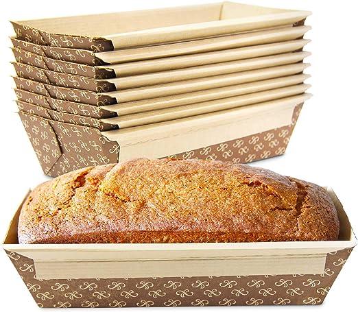 Amazon.com: Molde de pan de papel kraft desechable para ...