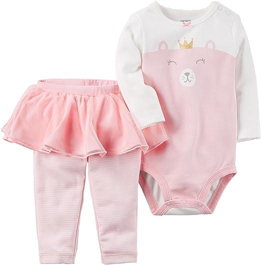 8b1dcf385 Amazon.com  Carter s Baby Girls  2 Piece Bear Bodysuit   Tutu Pants ...