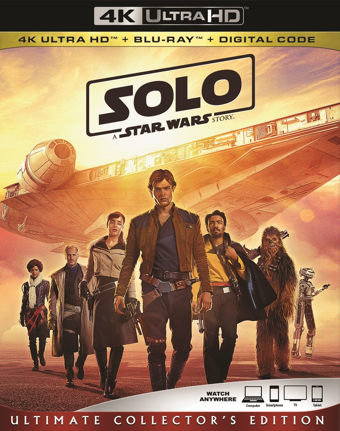 4K Blu-ray : Solo: A Star Wars Story (With Blu-ray, 4K Mastering, 3 Pack, Digital Theater System, Digital Copy)