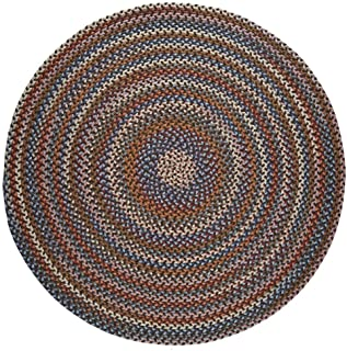 product image for Rhody Rug Augusta Space-Dye Wool Braided Rug Walnut 8' Round Wool 8' Square Indoor Natural Round