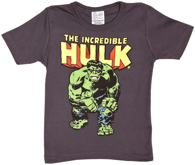 Logoshirt T-shirt per bambini L'incredibile Hulk - maglia per bambini Marvel Comics - The incredible Hulk - maglietta girocollo blu medio - design originale concesso su licenza 080-0656/008
