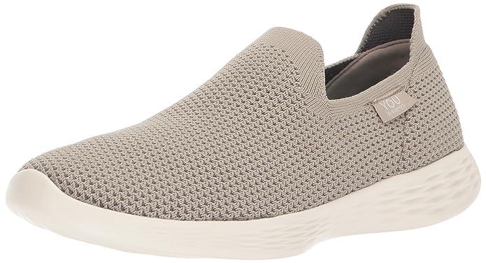 Skechers Damen Go Walk Lite-Smitten Slip on Sneaker, Grau (Charcoal), 38.5 EU