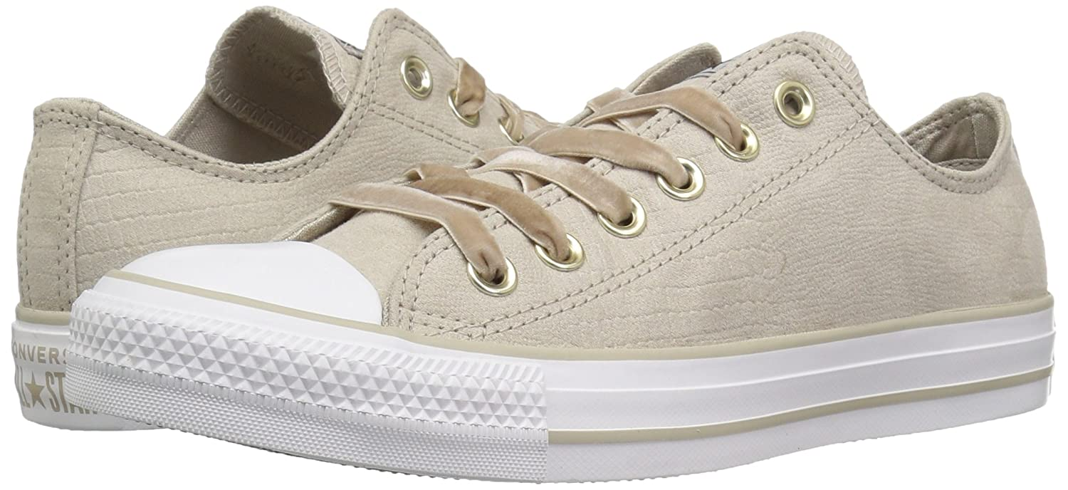 95db9e236d1718 Converse Women s Chuck Taylor All Star Velvet Low Top Sneaker Papyrus  Papyrus White 5 M US  Buy Online at Low Prices in India - Amazon.in