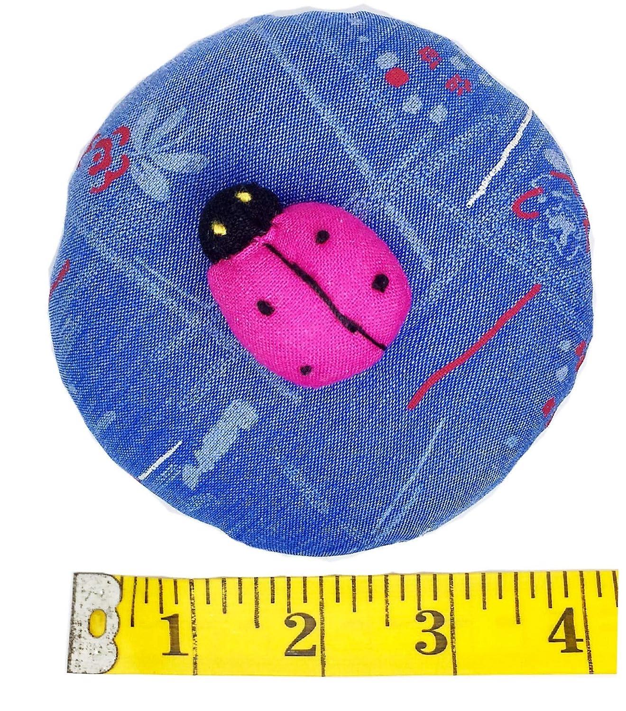 PeavyTailor Emery Pin Cushion 10oz Extra Large Keep Needles Clean and Sharp Needle Storage Organizer Ladybug Deeppink