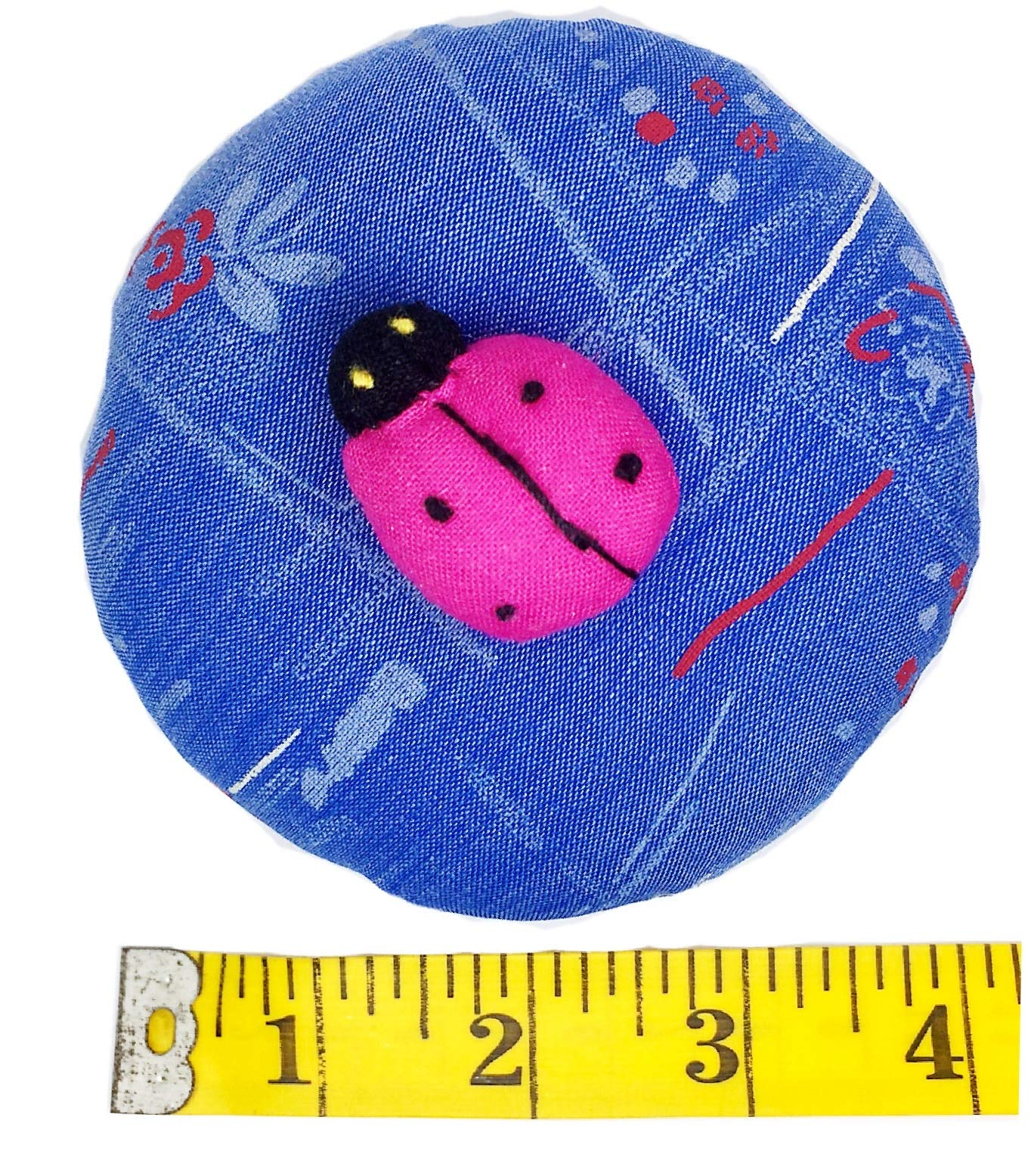 PeavyTailor Emery Pin Cushion 10oz Extra Large Keep Needles Clean and Sharp Needle Storage Organizer - Ladybug Deeppink by PeavyTailor