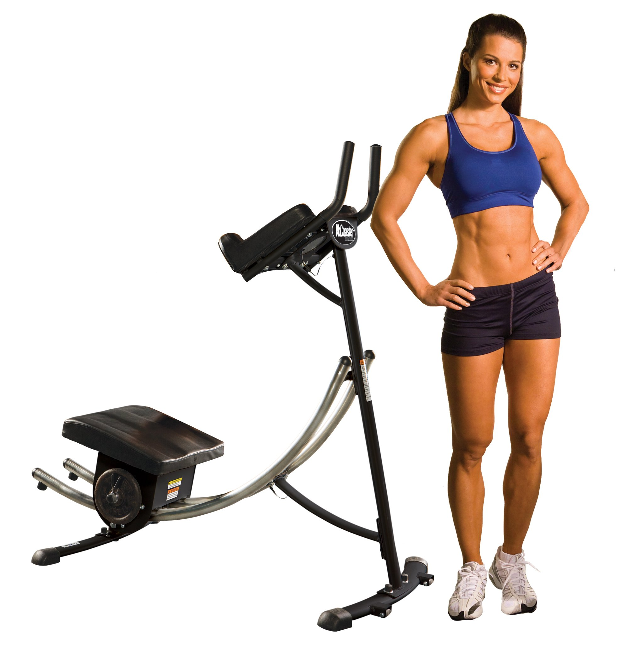 Ab Coaster Black, Ultimate Ab Workout, Six Pack Exercise Machine For Home As Seen On TV by Ab Coaster