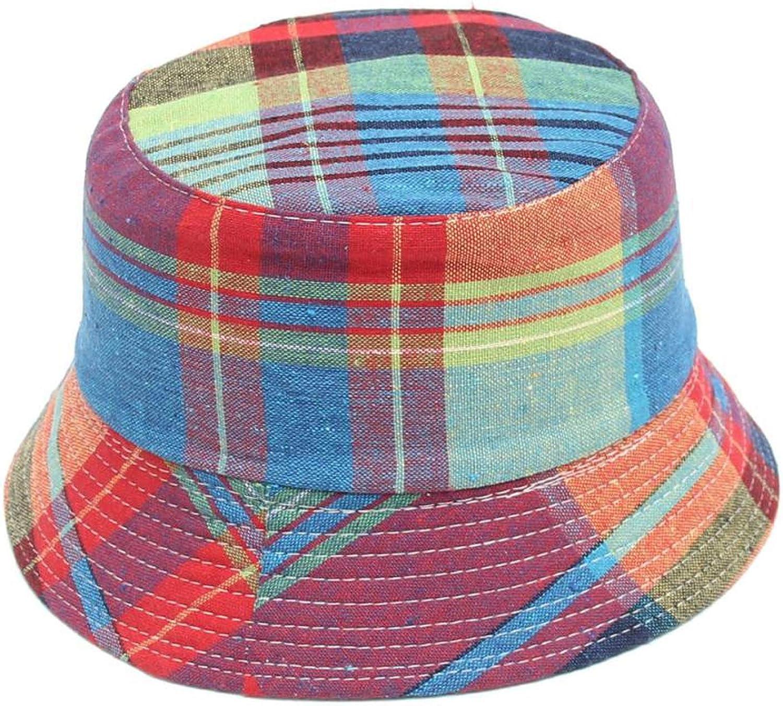 Toddler Baby Kids Boys Girls Plaid Pattern Bucket Hats Sun Helmet Cap Fisherman Hat Amazing May 2