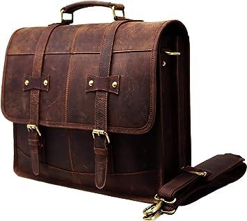 Hommes en cuir neuve Vintage Messenger épaule Sacoche Ordinateur Portable École Mallette Sac