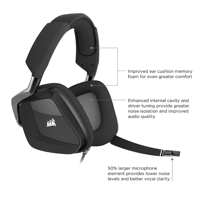 Amazon.com: Corsair CA PRO RGB USB Gaming Headset with DOLBY ...