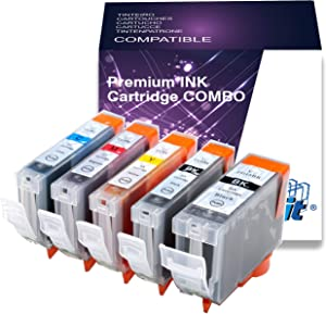 5 Packs PGI-5BK CLI-8 compatible Ink Cartriges with CHIPs