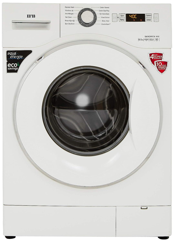 IFB 6.5 kg Fully Automatic Front Loading Washing Machine  Senorita WX, White, Inbuilt Heater, Aqua Energie water softener