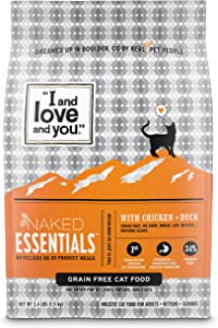 I and Love and You Naked Essentials Dry Cat Food - Grain Free Kibble (Variety of Flavors)