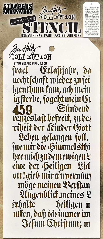 Tim Holtz Layered Script Stampers Anon Stencil