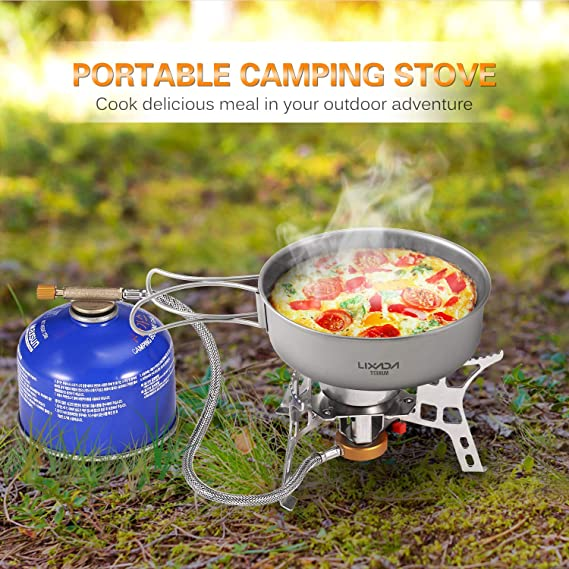 Estufa plegable camping gas a prueba de viento encendido ...