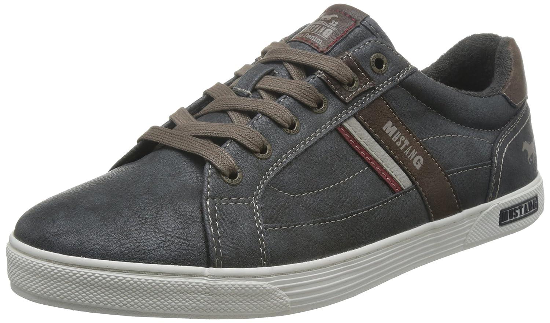 Mustang Herren Herren Herren Turnschuhe - Grau Schuhe in Übergrößen 1490af