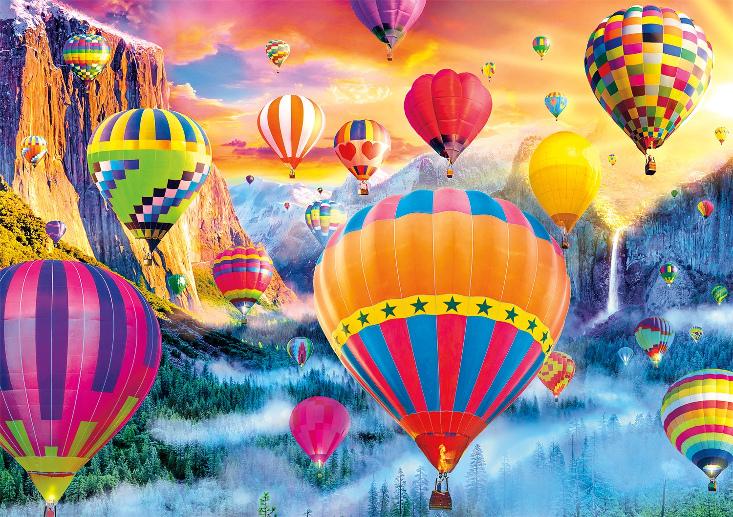 Buffalo Games - Vivid Collection - Balloon Valley - 300 Large Piece Jigsaw Puzzle