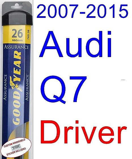 2007 – 2015 Audi Q7 hoja de limpiaparabrisas de repuesto Set/Kit (Goodyear limpiaparabrisas