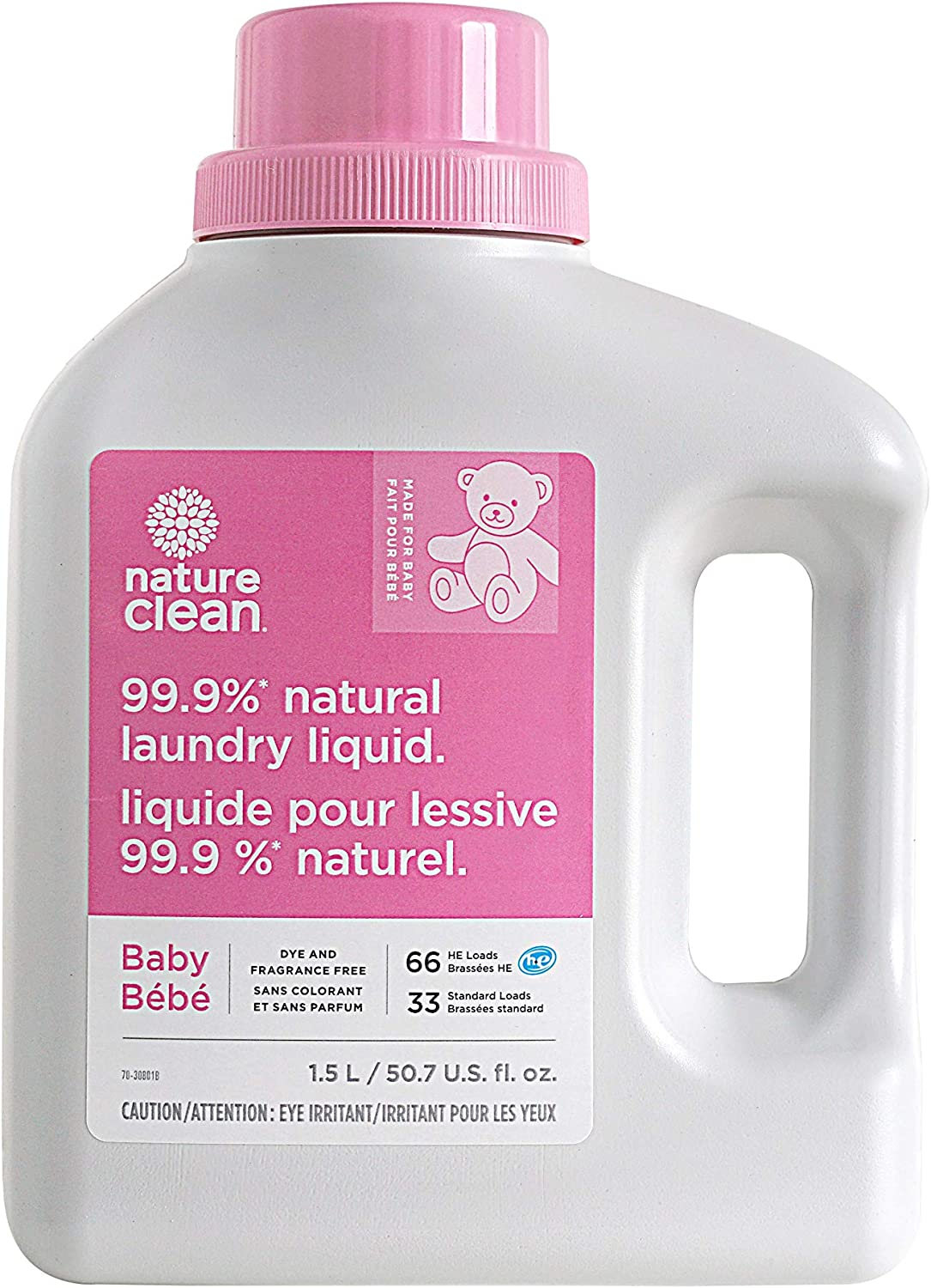 Nature Clean Baby Laundry Fragrance-Free, 50.7 Fluid Ounce