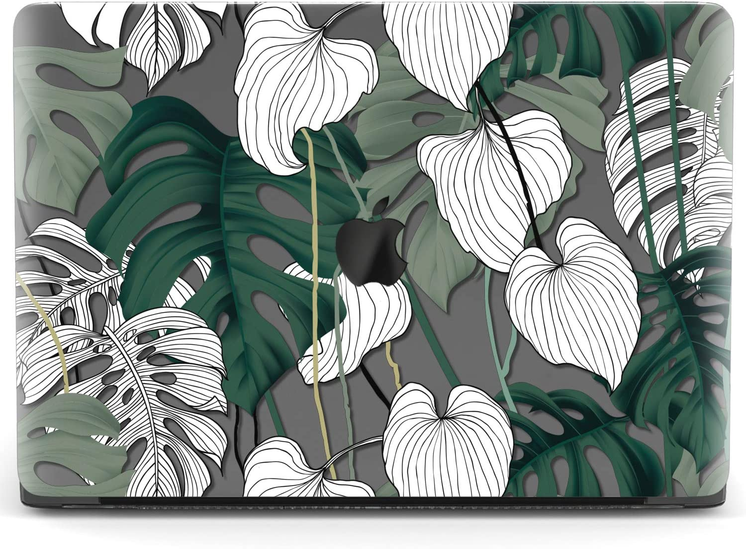 Mertak Hard Case for Apple MacBook Pro 16 Air 13 inch Mac 15 Retina 12 11 2020 2019 2018 2017 Leaves Botanical Monstera Design Clear Tropical Touch Bar Sketch Plastic Print Drawing Laptop Cover