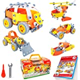 HOMCENT STEM Building Toys for 5 6 7 8 9 10 Year Old Boy Toys Educational Toys Engineering Building Kit Erector Toys, 148 PCS