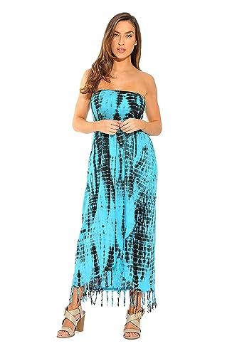Riviera Sun Tie Dye Smock Chest Sundresses for Women