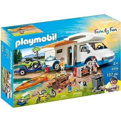 PLAYMOBIL Camping Mega Set Toy: Toys & Games