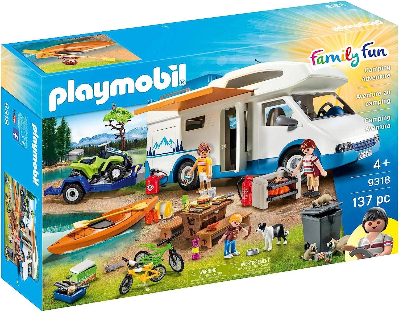 Playmobil Camping Mega Set Toy, Multicolor