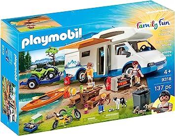 Playmobil Family Fun: Camper con Quad e Canoa Gioco, Multicolore, 9318