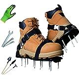 Earthgears Lawn Aerator Shoe [2020 Hard-Flex Grade] Pre-Assembled, Hard Flexible Sole, E-Z Fit Single Click-Buckle Strap…