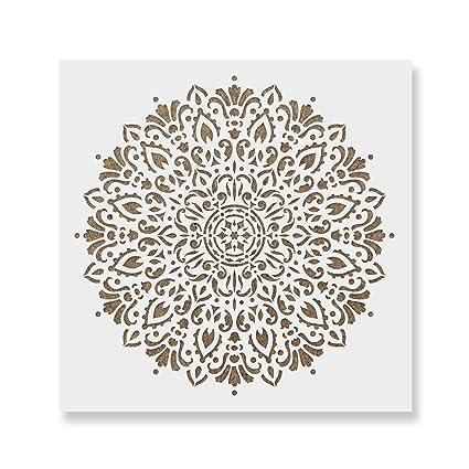 amazon com harmony mandala stencil template reusable stencil for