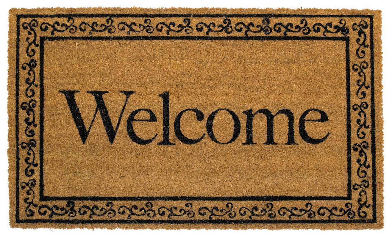 "Welcome Coir Doormat Everyday Natural Fiber Outdoor 18/"" x 30/"" Briarwood Lane"