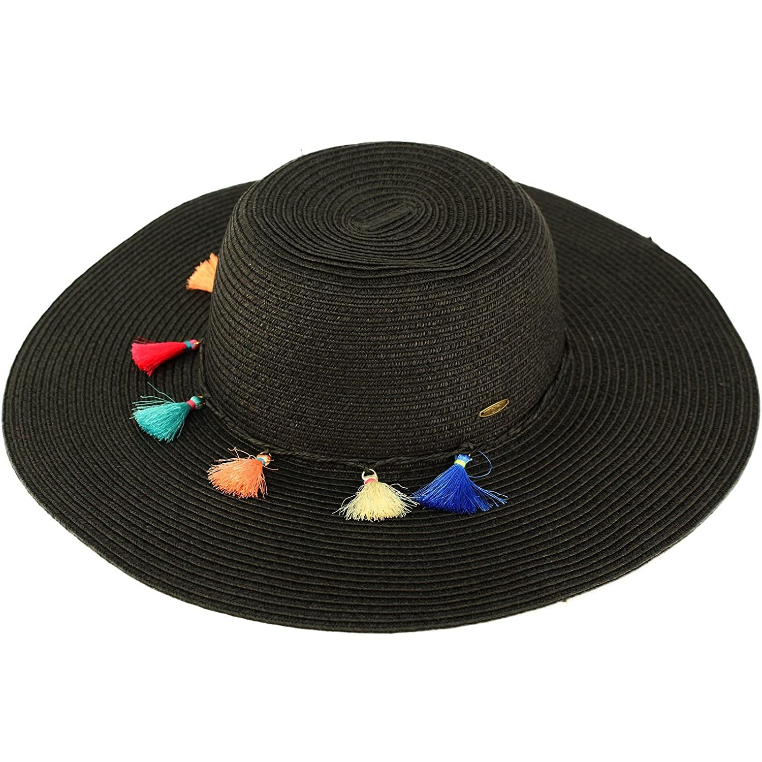 264847f5d4541 Top1  C.C Fun Tassels Hatband Floppy Wide Brim 4