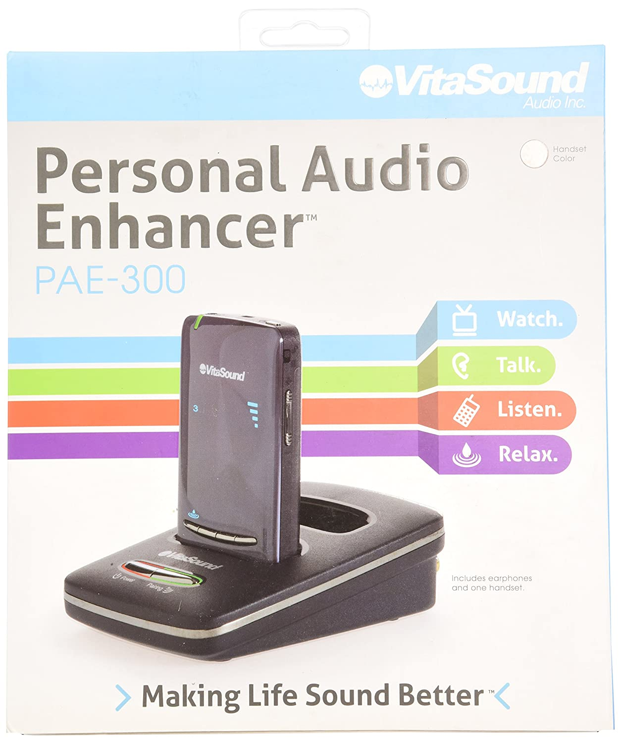 VitaSound PAE-300G, Personal Audio Enhancer Package, Charcoal Grey