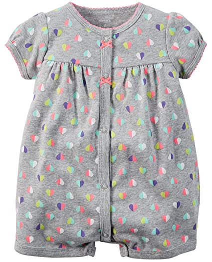 c66f2bf89 Amazon.com  Carter s Baby Girls 1-piece Appliqué Snap-Up Cotton ...