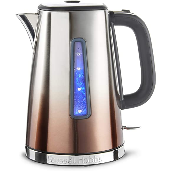Russell Hobbs Stainless Steel and Copper Electric Kettle, 3000 W, 1.7 Litre