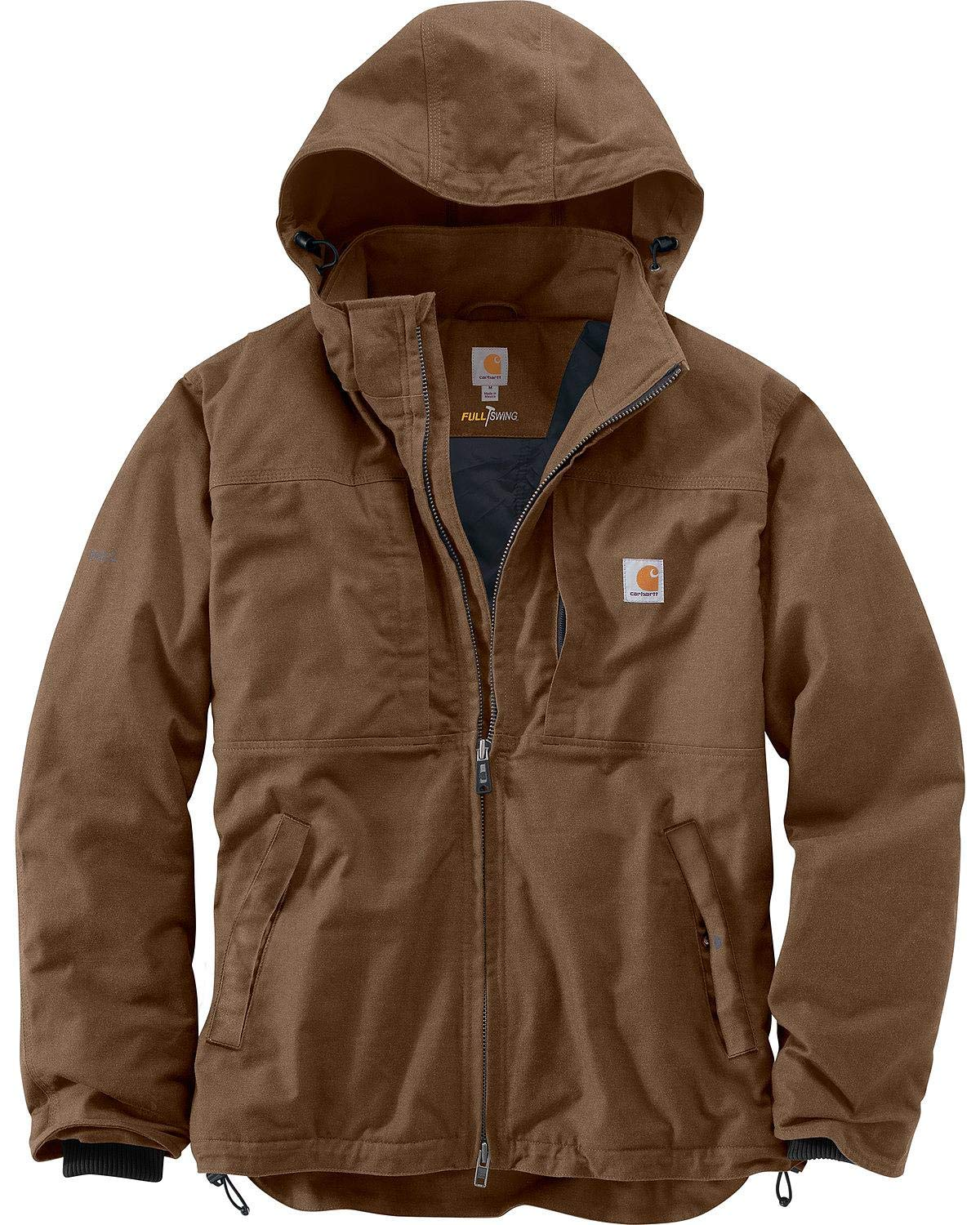 Carhartt Men's Big & Tall Full Swing Cryder Jacket, Canyon Brown, Large/Tall by Carhartt