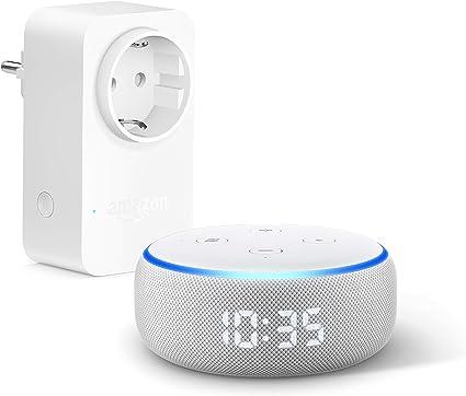 Echo Dot (3.ª generación) - Altavoz inteligente con reloj y Alexa + Amazon Smart Plug (enchufe inteligente wifi), compatible con Alexa: Amazon.es