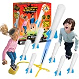 The Original Stomp Rocket Jr. Glow Rocket and Rocket Refill Pack, 7 Rockets and Toy Rocket Launcher - Outdoor Rocket Toy…