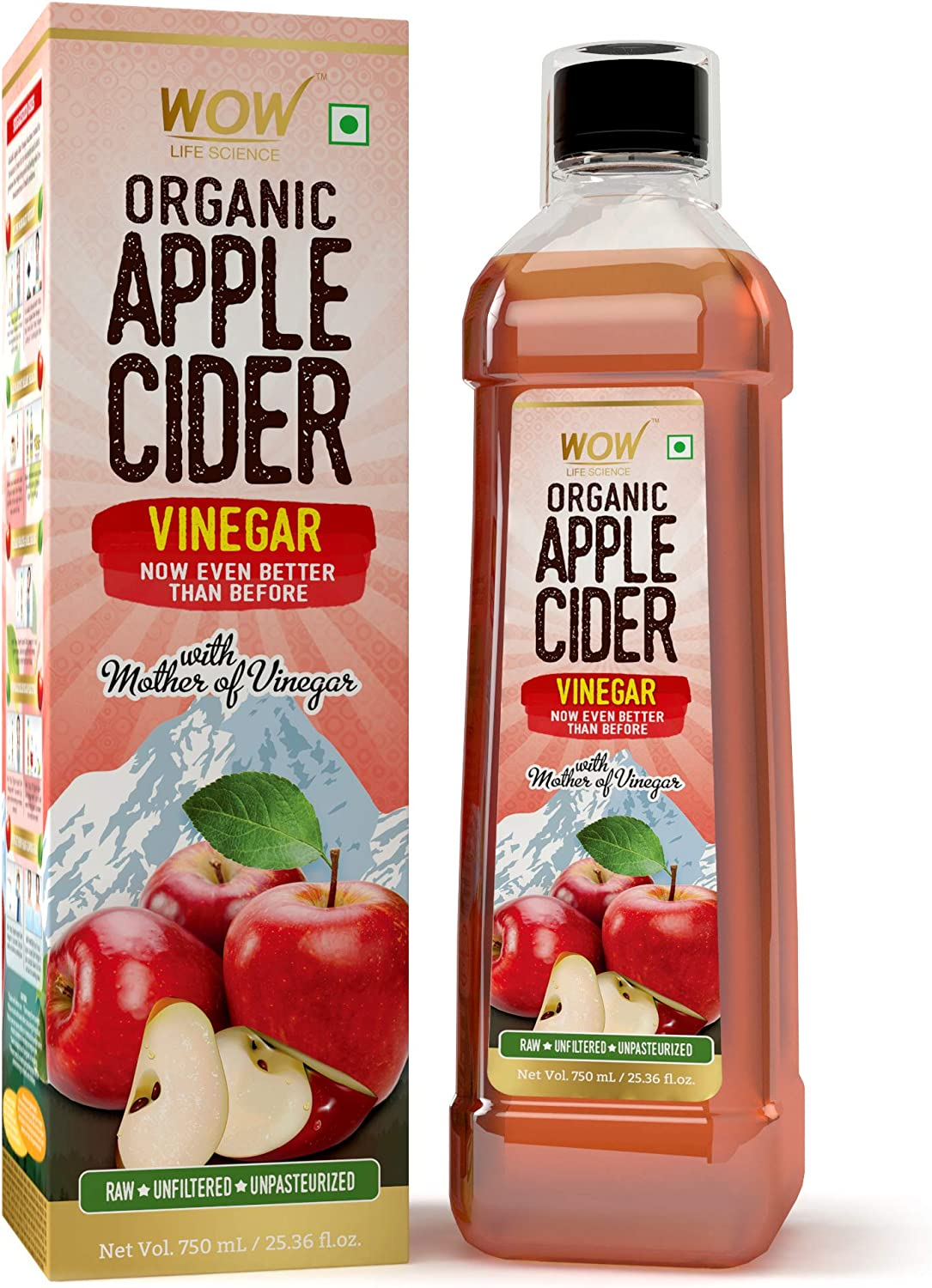 WOW Raw Apple Cider Vinegar