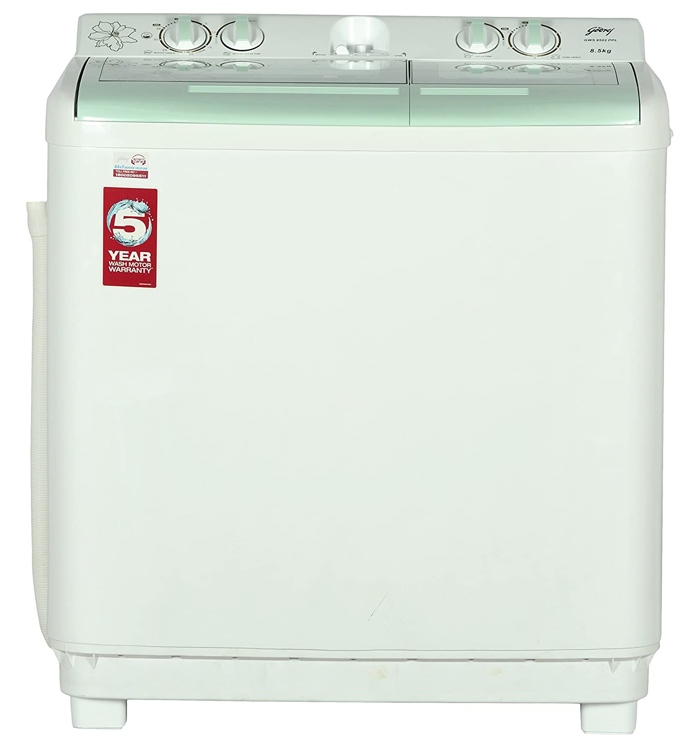 Godrej Gws 8502 Ppl Semi Automatic Top Loading Washing Machine 85 Wiring Diagram Kg Apple Green Home Kitchen