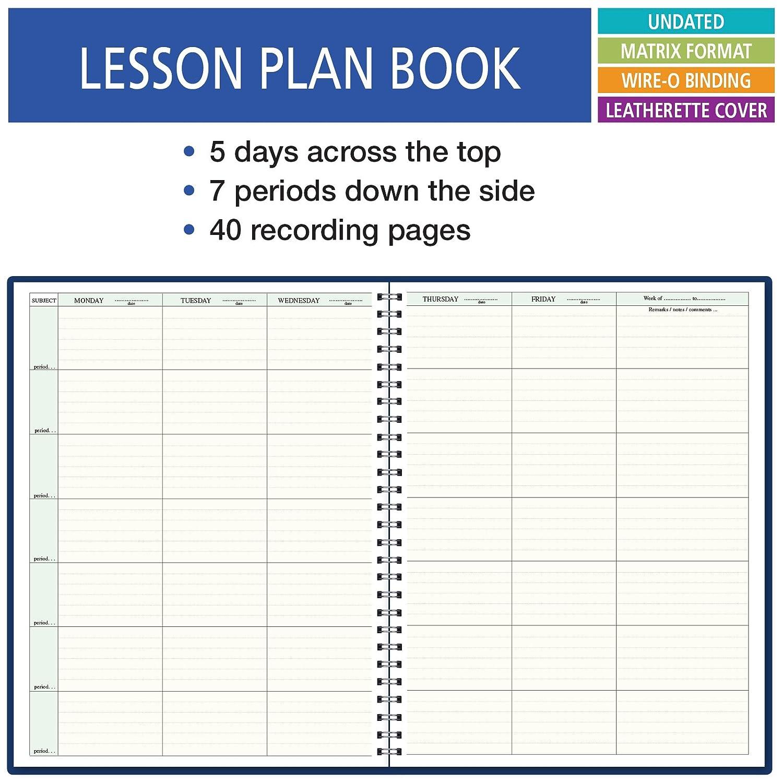 Amazon 7 Period Teacher Lesson Plan Days Horizontally Across